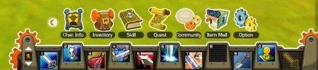 The Skills bar and menu of sorts.