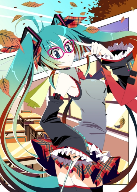 Click for high res! It's a strange quality pic, I do like it though, Miku + Tartan = my kinda thing.