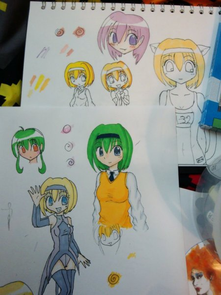 Photo of some pics I've been practicing with, I haven't used the Promarkers in a fair while lol.