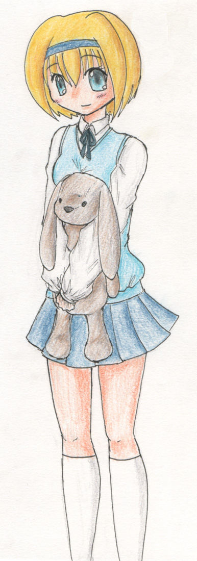 My mascot with her/my bunny lol. Still not sure of a name for the bunny...I have ideas...
