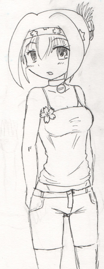 Casual outfit. Not sure... I know the left side hair thing is too chunky. I want one outfit with her hair up at least...