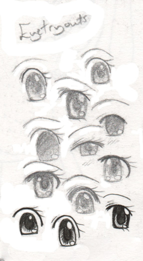 A range of different styles of eye... I meant to number each one, so ya'll could choose which ya'll like best lol.
