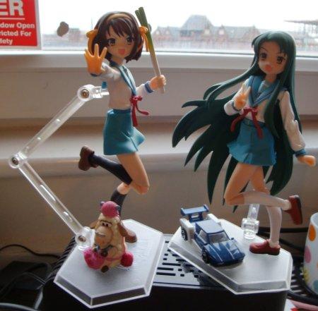 Haruhi, my first figma, and Tsuruya-san, my favourite.