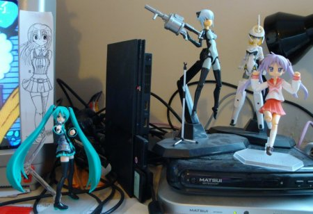 Two of my Shinkis and two of my Figmas.