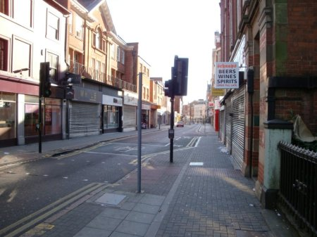 Early morning Leicester. Barely any cars. A couple of people. Lots of scavenging pigeons. lol