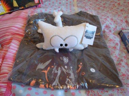 White Bow Meow plushie