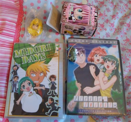 The two dvd collections I got, my Yami, and my Chi phone dangly.
