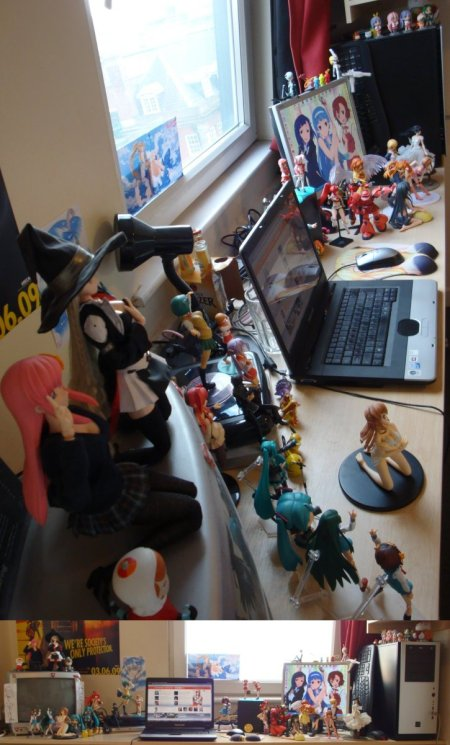 The weird angle shot of my desk lol