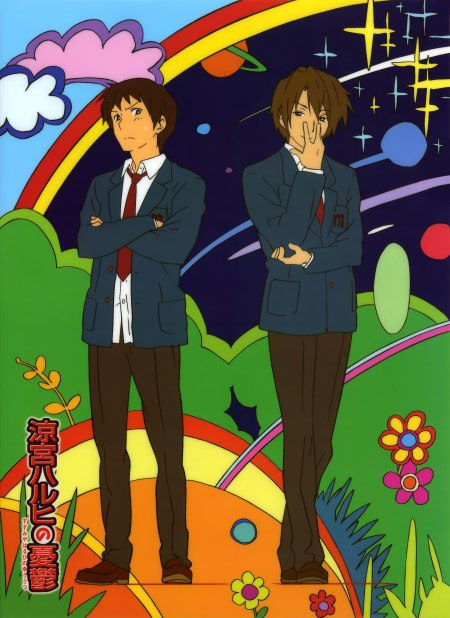 Funky Kyon+Koizumi. Too many pics of them together... need more lonesome, preferably half naked, Kyon.