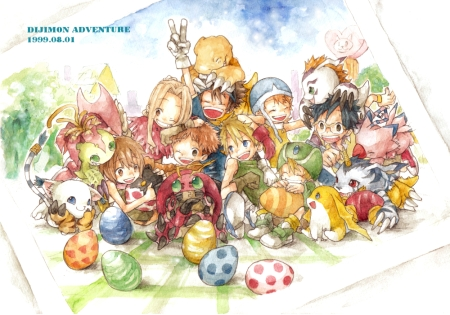 Think I've seen this pic before. First season Digimon. Original and best.
