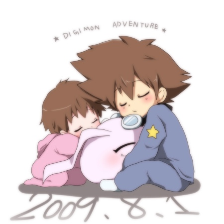Cute pic. My fave part of the (western) Digimon movie is the first part.