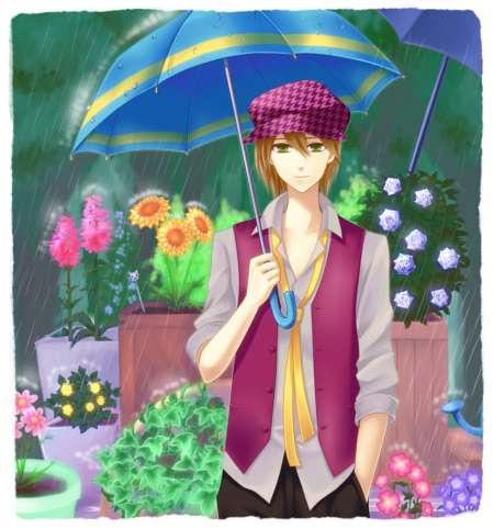 Isn't he dreamy? He's always out in the rain tending to his flowers. So dedicated <3