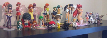 The new set up for my figures. There are soooo many more that need to come, and alll my figma's and nendoroids.