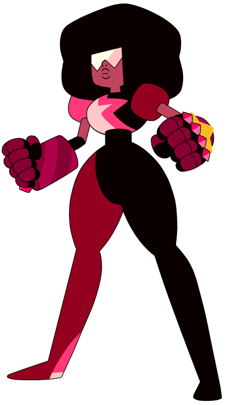 Garnet is the tallest, most dead pan and most serious gem. She can have fun when she wants to though.