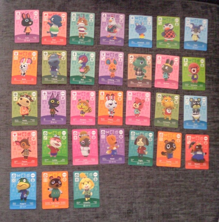 These aren't all my cards now... I have a few more... I think I have 40-ish? I think...