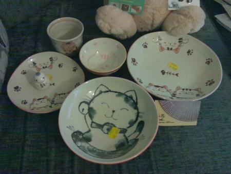 All these, including the snake zodiac thing, only cost £22. I love cute bowls too much....
