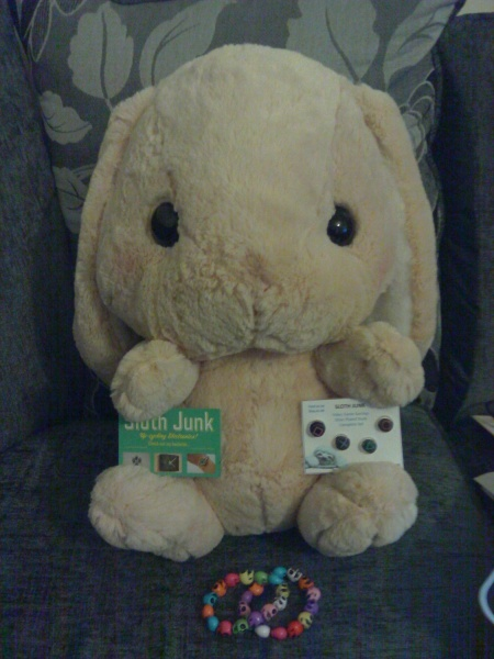 And this is Bun Bun, a Amuse plush, it's huge. Like over 40cm tall. Official name is Chappy but I have named him Bun Bun.